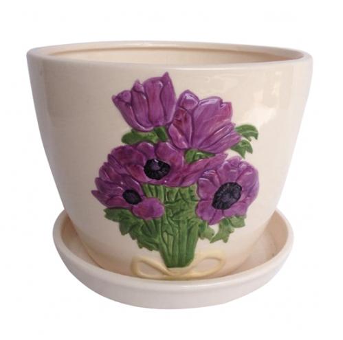647-005/3 Горшок Пурпурные <a href='http://snt.od.ua/ru/poisk.html?q=цветы' />цветы</a> 12,5*10,5