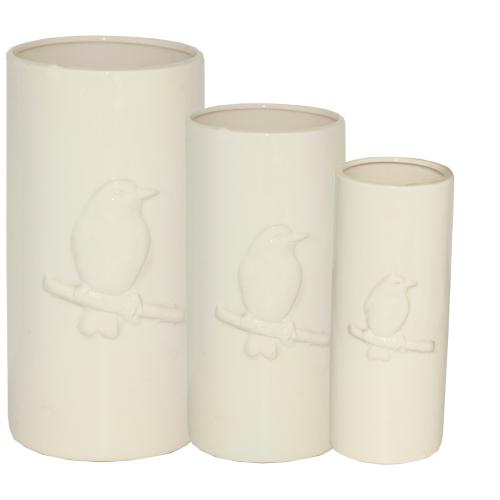 647-011 Набор ваз для цветов Птичка (3шт)16x16x32 см,13х13х28 см,9,5х9,5х24см