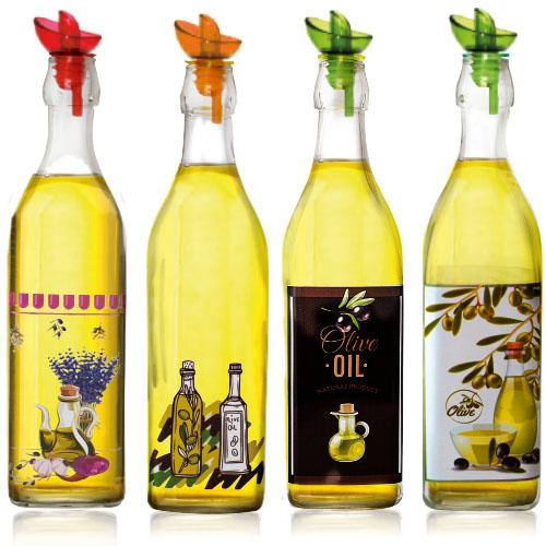 701-10 Бутылка для масла и уксуса микс 1л Прованс